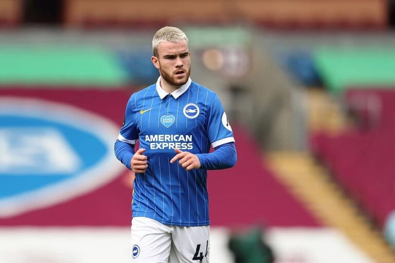 Aaron Connolly playing for Brighton & Hove Albion