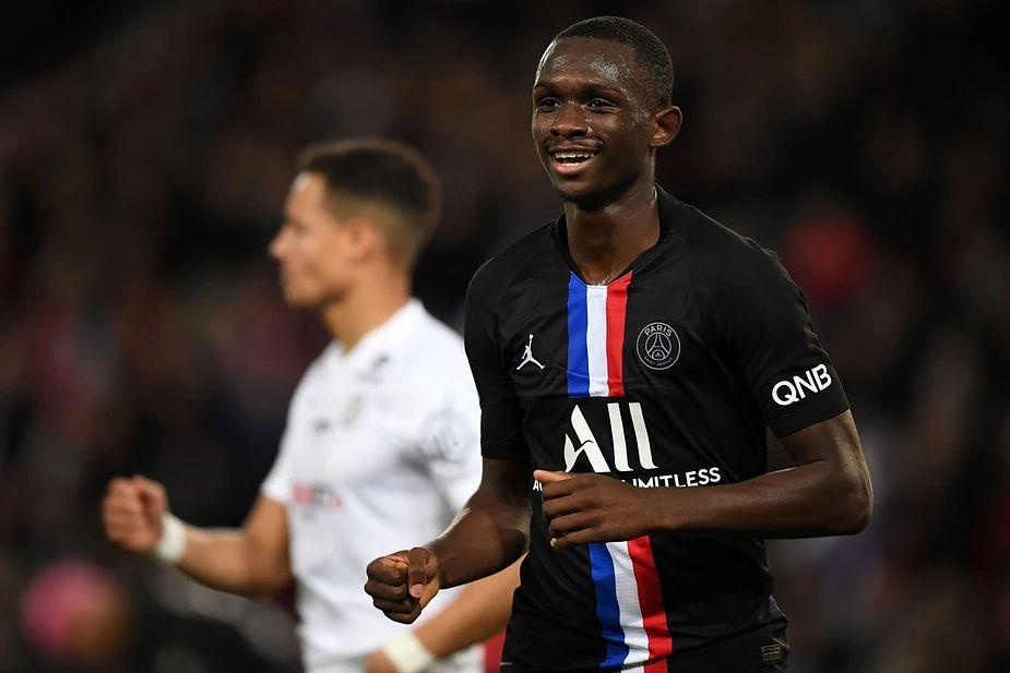 Tanguy Kouassi during his time at Paris Saint-Germain