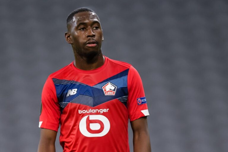 Boubakary Soumaré playing in Ligue 1 with Lille