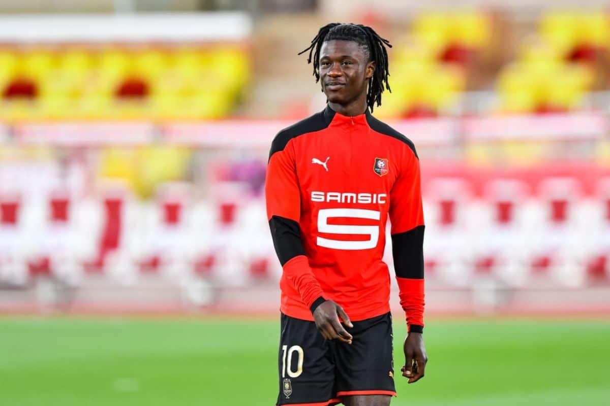 Eduardo Camavinga playing for Stade Rennais
